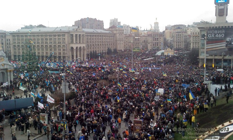 Майдан Незалежності, Народне віче.  1 грудня 2013 р. Фото С. Клименка