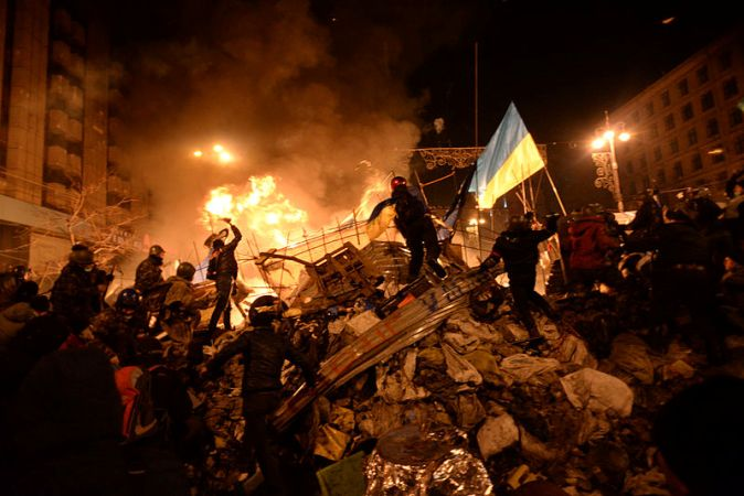 Протистояння на Майдані Незалежності. 19 лютого. Фото Mstyslav Chernov