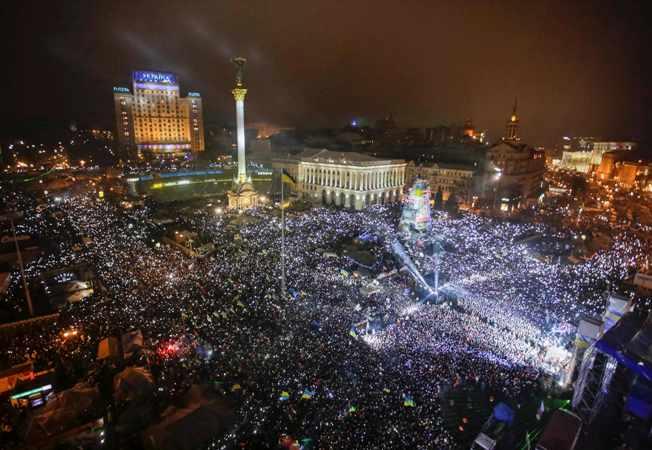 Новий рік на Майдані Незалежності. Фото Reuters