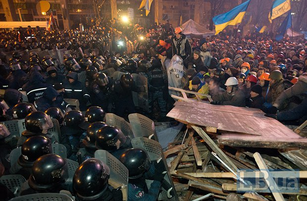 Штурм Майдану 11 грудня. Фото LB.ua.