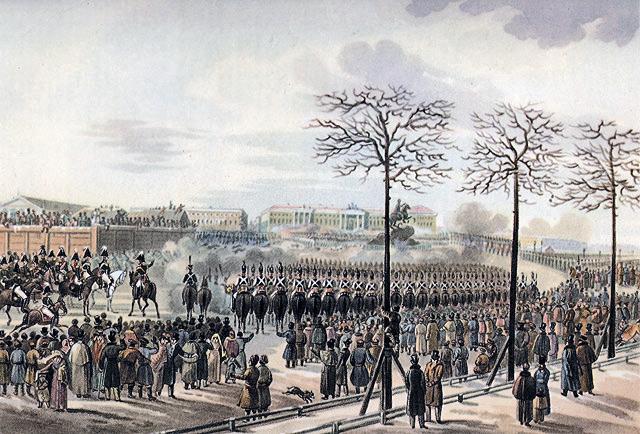 К. Кольман. Повстання 14 грудня 1825 року