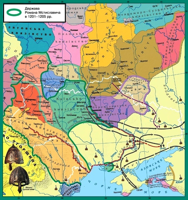 Карта політичної роздробленості Київської Русі