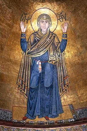Богоматір Оранта. Мозаїка у Софійському соборі.