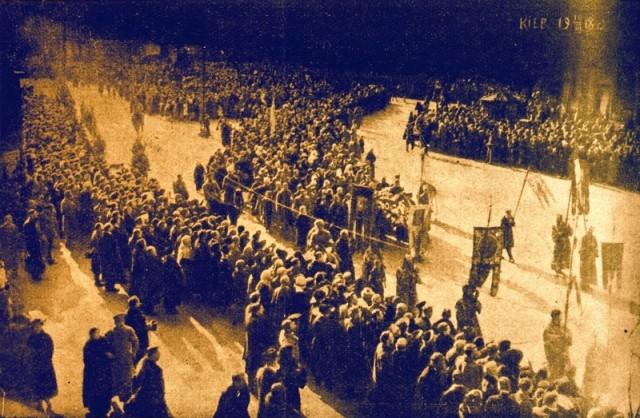 Урочисте перепоховання студентів у Києві 19 березня 1918 р.