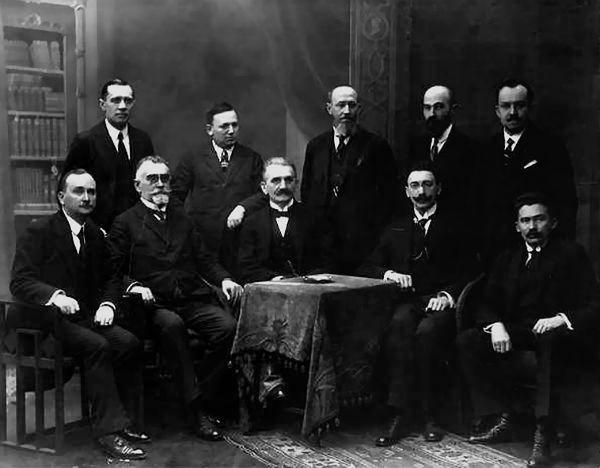 Є. Петрушевич та члени його уряду, 1918 р.