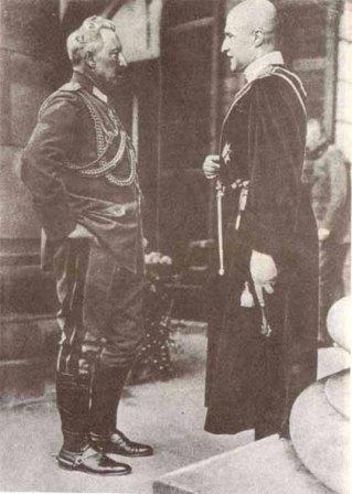 Гетьман П. Скоропадський з Кайзером Німеччині Вільгельмом ІІ (1918 р.)
