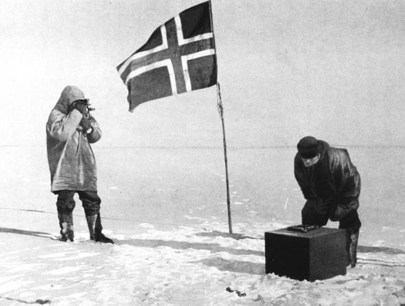 Амундсен на південному полюсі